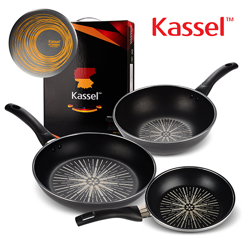 [Kassel] 카셀 단조형 티타늄 후라이팬 3종 C세트